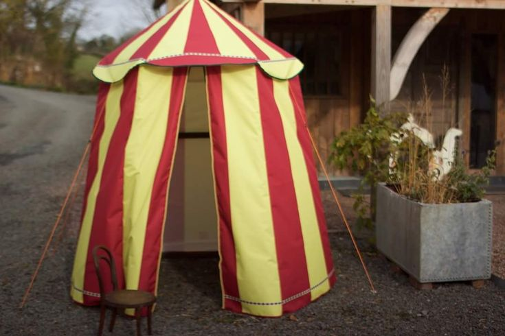 Mini circus top gazebo tent. Hire this and more circus props from www.propfactory.co.uk/listing