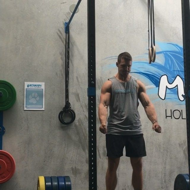 Deads.  Warm ups + Doubles @ 240kg (shown)  No belt.  Weights are feeling the best they've probably ever get.  Can't bench right now but gives me time to focus on squats and deads until elbow is sorted.  Back on track for a 300 pull sometime this year.  #metamorph #realmovementproject #adonisathletics