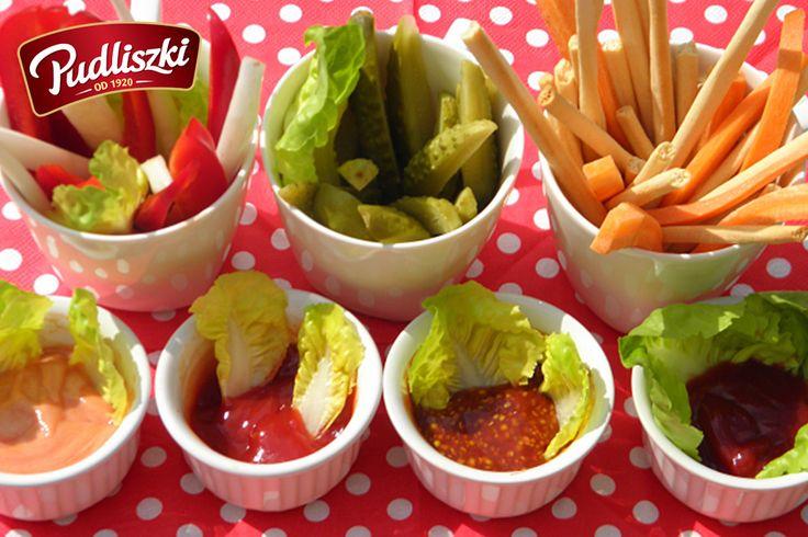 Warzywa z dipami  #pudliszki #przepis #wege