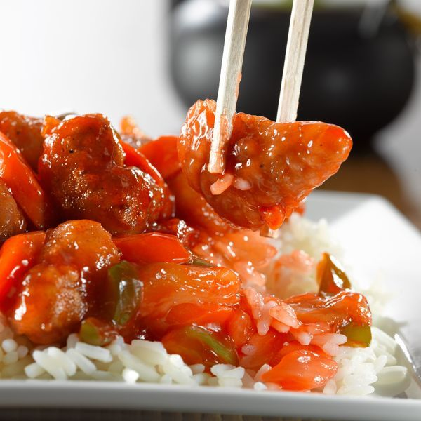 Sweet and Sour Pork (makes 2-3 servings) Ingredients SAUCE 1 1/2 tablespoons tomato ketchup 1 teaspoon plum sauce 1/8 teaspoon Chinese rice vinegar 1/2 teaspoon Worcestershire sauce 1 teaspoon oyster sauce 1 teaspoon corn starch 1 teaspoon sugar 2 tablespoons water