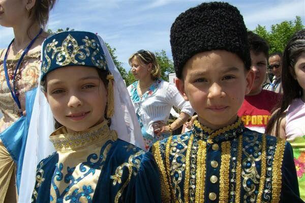 Crimean Tatar-Turk children!