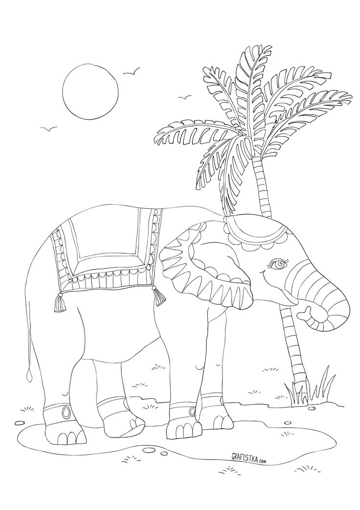 96 best coloring elephants and monkeys images on Pinterest ...