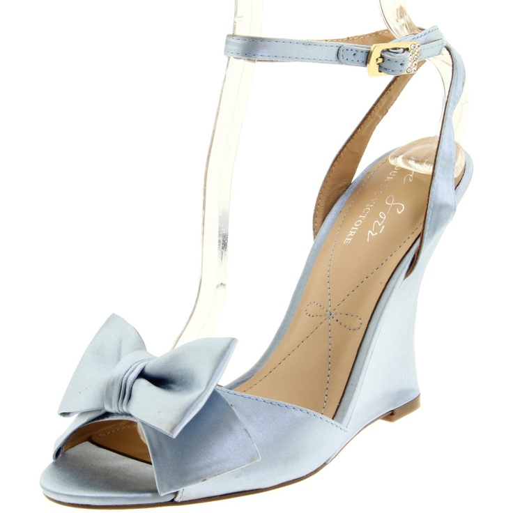 Just bought these as my wedding shoes! Yippee!Victory, Victoire Women, Evelia Wedges, For, Wedge Sandals, Women Evelia, Something Blue, Wedges Sandals, Ankle Straps