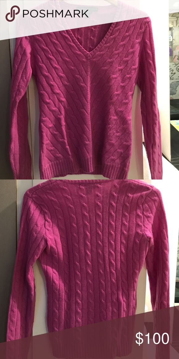 NWOT Ralph Lauren Slim Fit Cashmere Sweater Ralph Lauren Slim Fit Cashmere Sweater - size small - hardly ever worn!!! Ralph Lauren Sweaters V-Necks