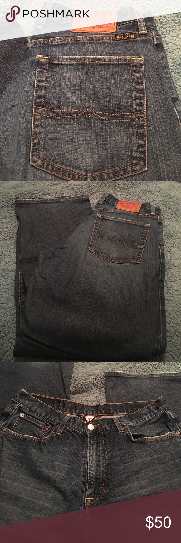 Lucky brand men's jeans Classic fit dungarees size 32Short, excellent condition Lucky Brand Jeans