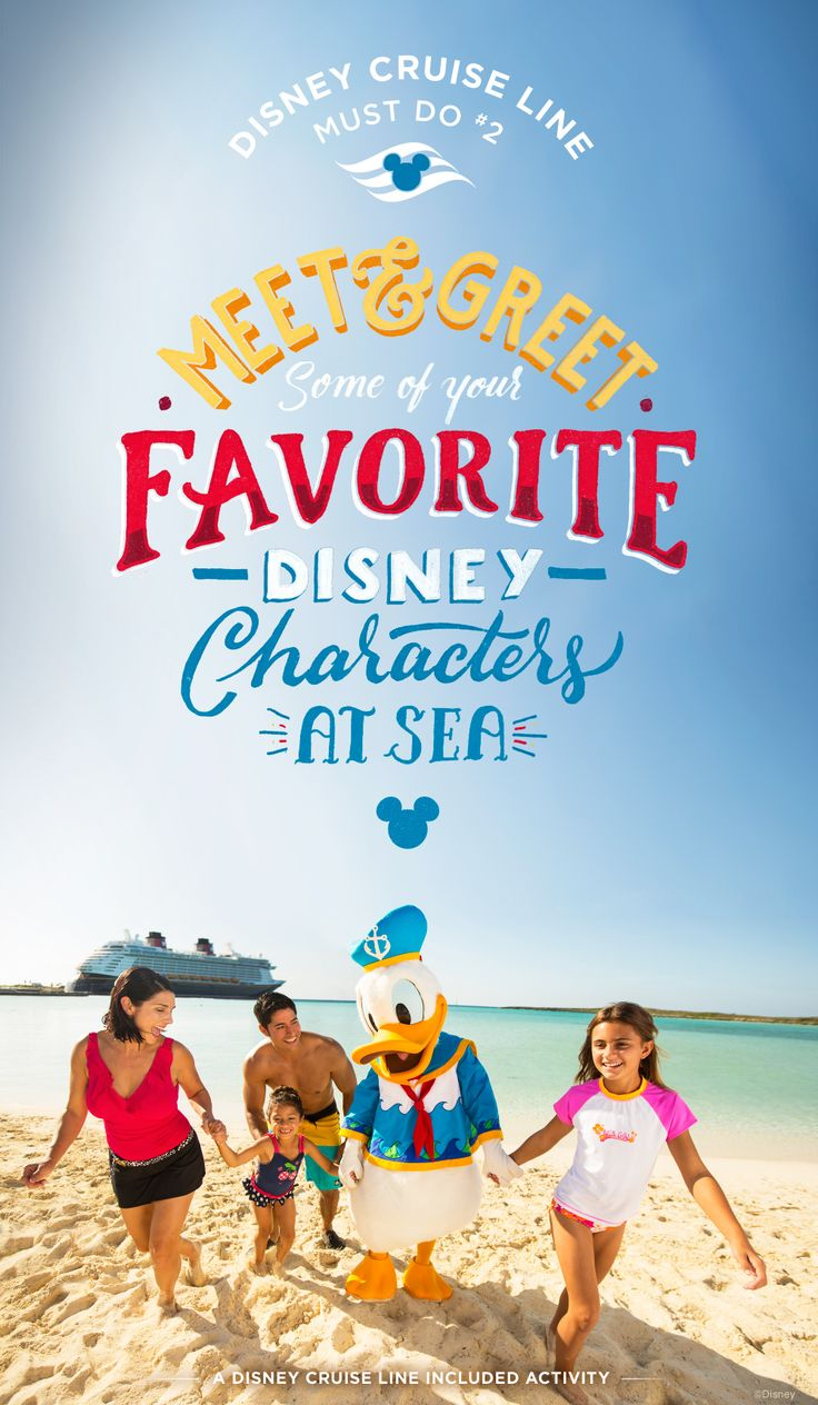 Character Greetings, where children and adults can meet and greet Disney Characters, occur throughout the entire fleet of Disney Cruise Line ships, both in designated places and during special surprises appearances.