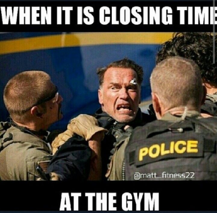 """When it's closing time at the gym."""