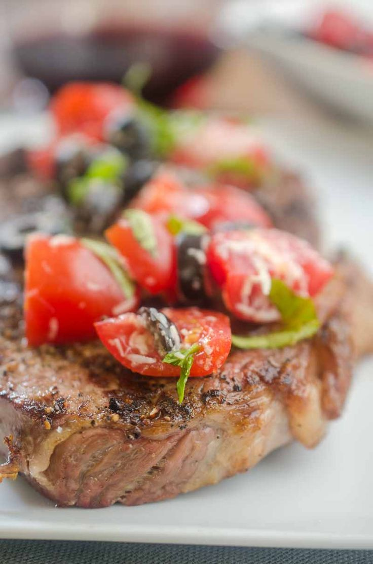 Ribeye Steaks with Fresh Tomato Tapenade 28