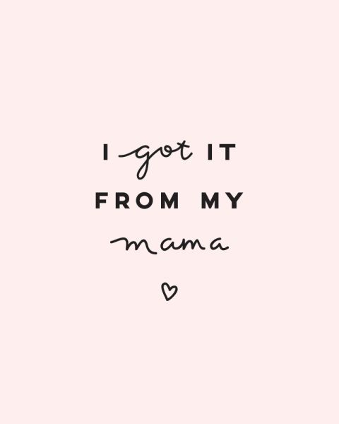Sam, a graphic designer who blogs at Chasing Gold, created this card for her mom and (lucky for us!) decided to share it with the world. Not feeling the pink? It's also available in white.