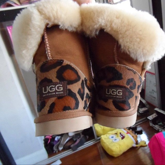chrome hearts new york store Leopard Uggs