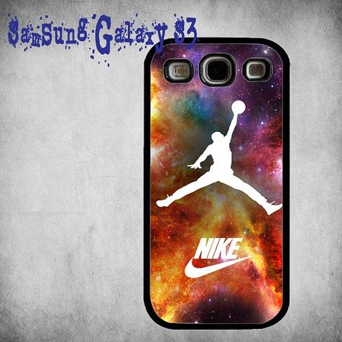 Air Jordan Nike Nebula Print On Hard Plastic Samsung Galaxy S3, Black Case