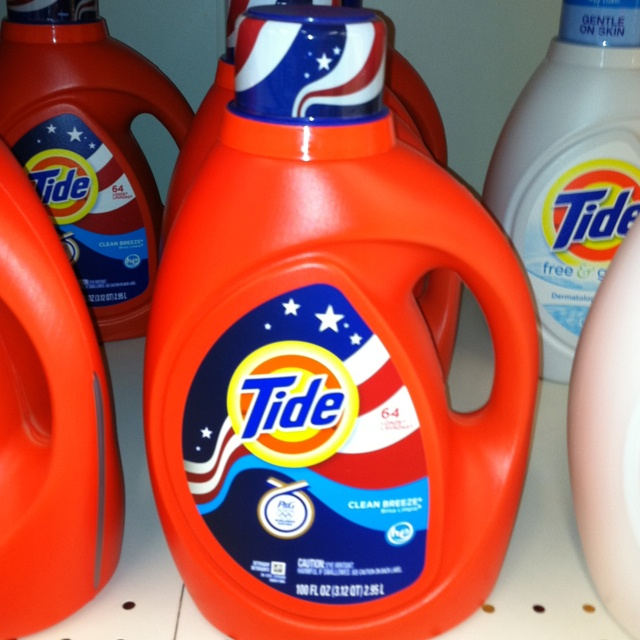 Tide olympics special packaging    Perfect. Not too in your face but designed to catch your eye and still keep the traditional tide branding