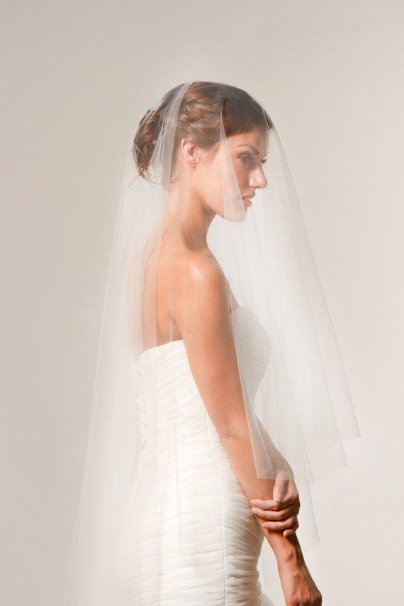 Cathedral Veil Chapel veil handcut by CoutureBrideBoutique on Etsy $90