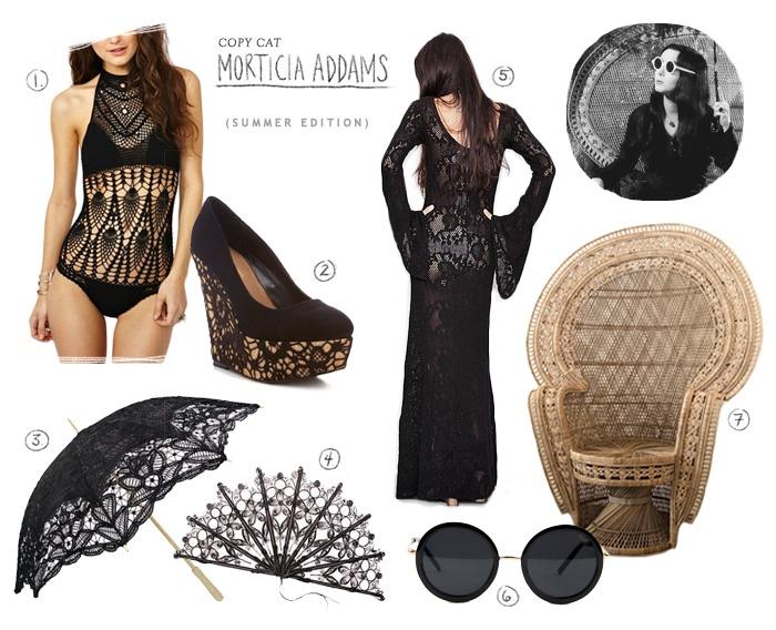 Morticia dress black milk