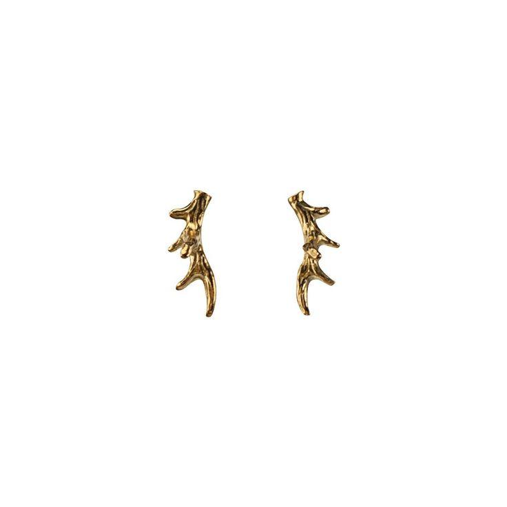 Small Antler Stud Earrings