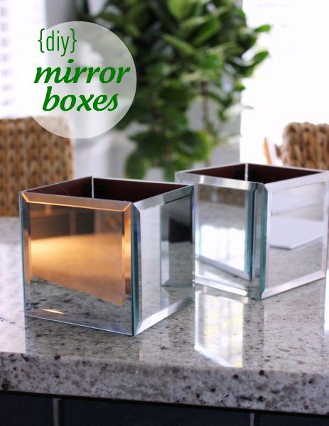 DIY mirror boxes from dollar store supplies... I love it! <Tutorial on website>