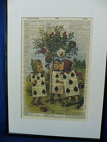 Alice in Wonderland Cards Wall Art Print No.337 by DecorisDesigns