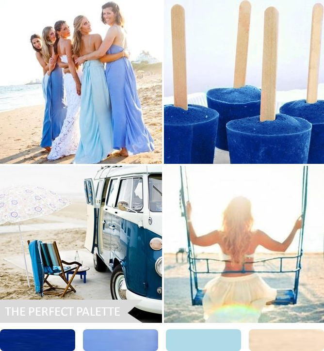 Party palette ocean inspired cobalt blue wedding for Ocean blue color combinations