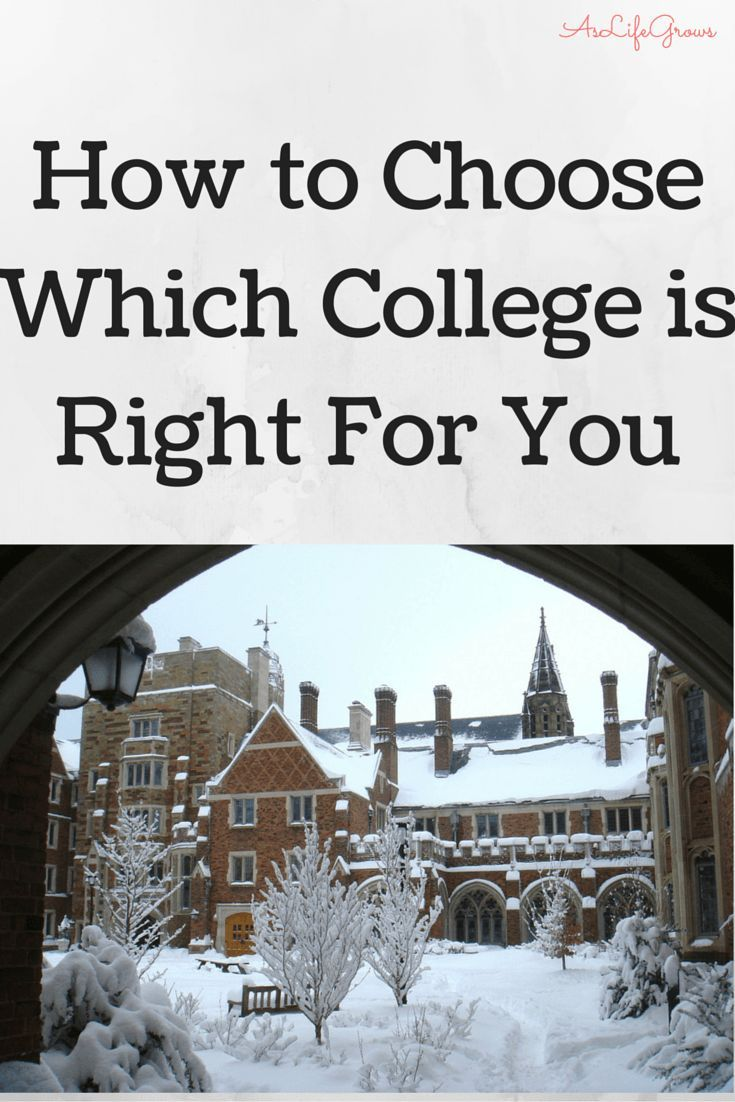 How To Choose Which College Is Right For You