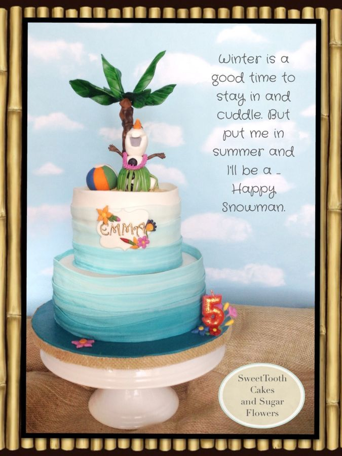 Frozen - Olaf Summer cake