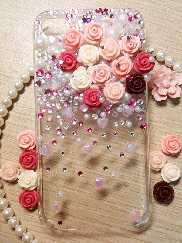 low priced 1bf4d 5959e Bling up a clear phone case ~ how fun is this?! I LOVE this!!! I ...