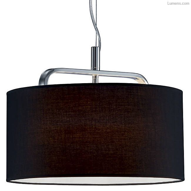 Shown in Black shade with Chrome finish, Cannes Pendant @ $149-