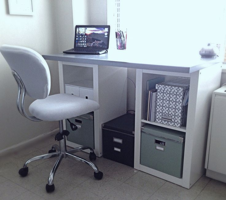 ikea hack expedit shelves with lack desk top homedeco