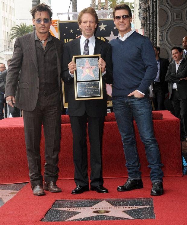 Johnny Depp and Tom Cruise celebrate Jerry Bruckheimer's honour