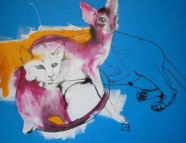 "Saatchi Art Artist olga gal; Painting, ""memories "" #art"