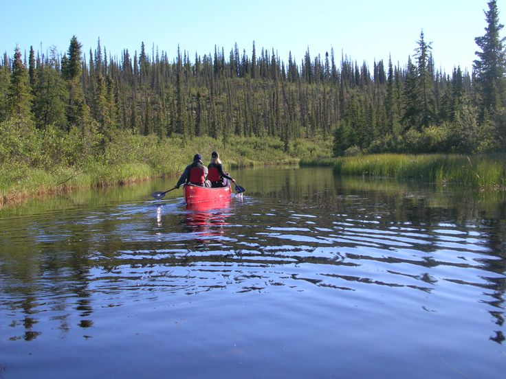 canoeing Deline Northwest Territories Canada