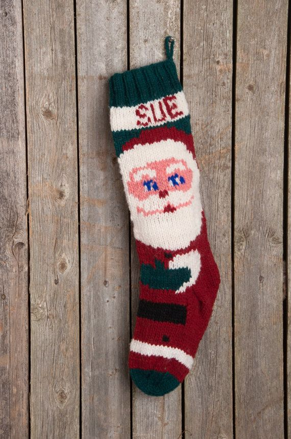 29 best Moms stockings images on Pinterest | Knitted christmas ...