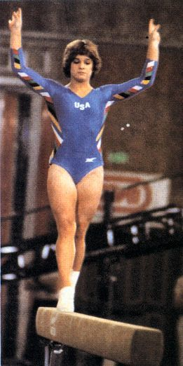 Image result for mary lou retton 1984 with fan