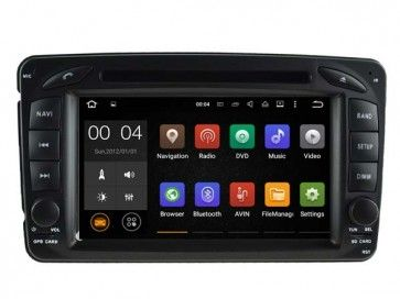 Autoradio GPS DVD Mercedes CLK C209 S160 Android 5.1.1 avec HD Ecran tactile Support Smartphone Bluetooth kit main libre Microphone RDS CD SD USB 3G Wifi TV MirrorLink