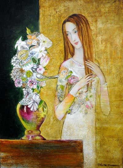 Spring Bouquet by Dina Shubin at Crescent Hill Gallery