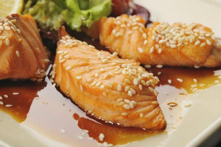Salmon con salsa teriyaki