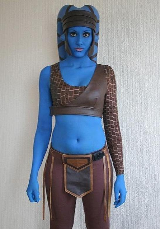 Replica Star Wars Aayla Secura Twi'lek costume by GravityXero, £120.00