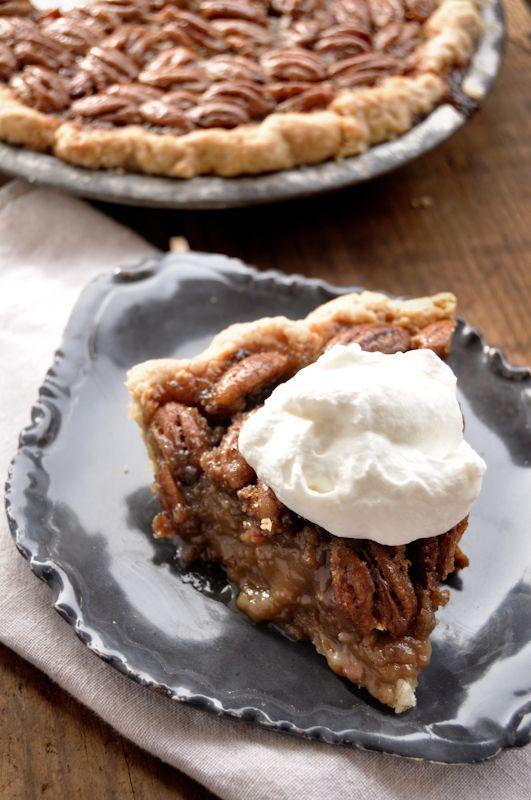 Bacon Bourbon Pecan Pie - oh dear!  http://fancyfoodfancy.wordpress.com/2012/11/09/bacon-bourbon-pecan-pie/#