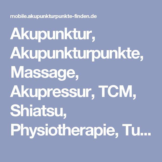 Akupunktur, Akupunkturpunkte, Massage, Akupressur, TCM, Shiatsu, Physiotherapie, Tuina  für Heilpraktiker, Ärzte, interessierte Laien