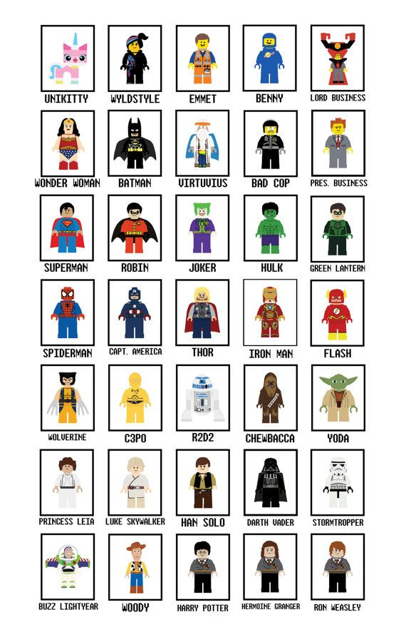 Lego Art Prints Any ONE Art Print  Lego Wall Art  by PrintsxAlicia, etsy