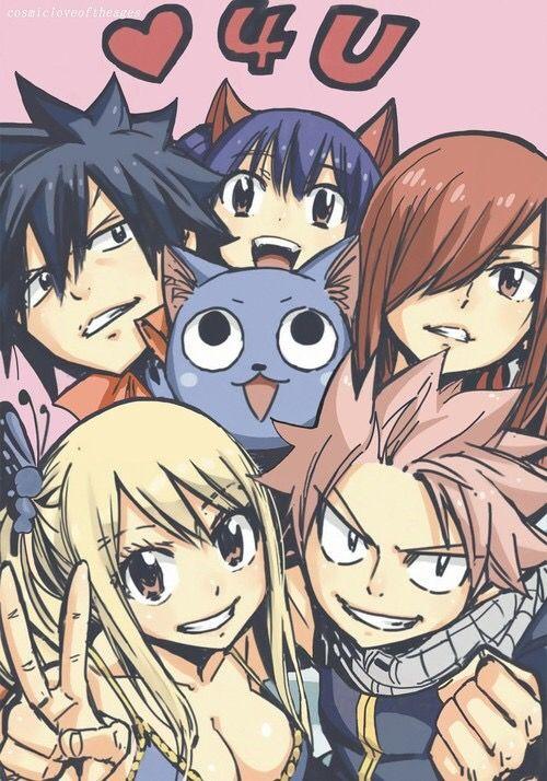 Fairy tail mesmo quando acabar ,sempre eles irao estar em minhas memorias,nunca me apaixonei tanto com um anime... so espero que termine com todos felizes e os casais juntos e claro kkkkk