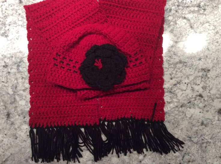 Another crochet beanie hat and scarf