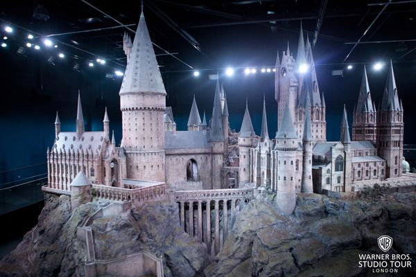 The jewel in the crown of the art department is the intricately detailed model of Hogwarts castle. Built for the first film, Harry Potter and the Philosopher's Stone, the model's every courtyard, tower and turret were filmed and enhanced with digital effects to create unforgettably realistic views of the magical school.