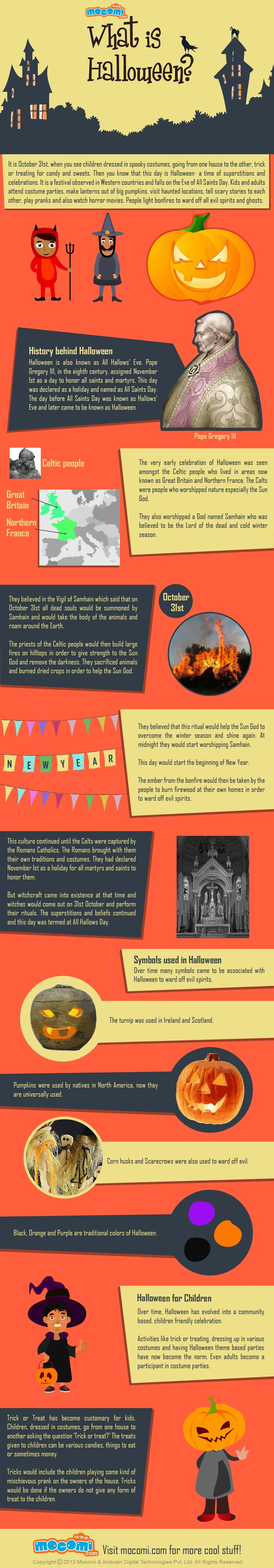 What is #Halloween? - It is a #festival observed in Western countries and falls on the Eve of All Saints Day. Kids and adults attend costume parties, make lanterns out of big #pumpkins, visit haunted locations, tell scary stories to each other, play pranks and also watch horror movies.