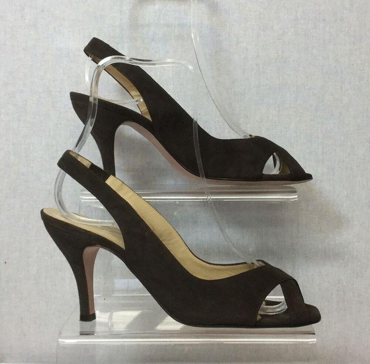 Hobbs Ladies Brown 30s Retro Slingback Peeptoe Shoes UK Size 5/38 Peaky Blinders…