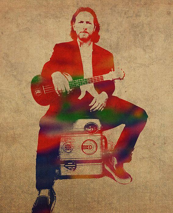 Eddie Vedder Pearl Jam Eddie Vedder Watercolor Portraits Portrait Design