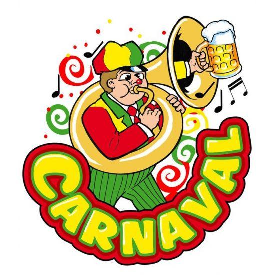 Carnaval decoratiebord muzikant. Dit Carnaval decoratiebord met muzikant met trombone heeft een formaat van ongeveer 35 x 40 cm. Materiaal: Plastic.