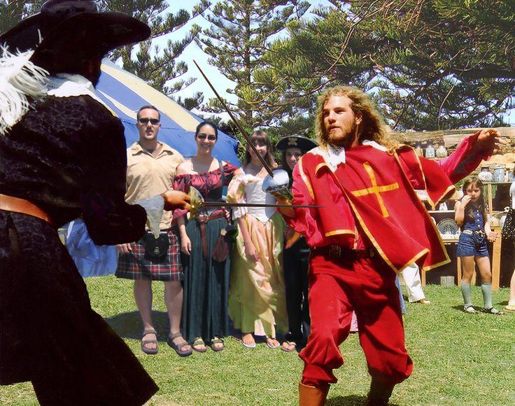 Duellists at the Gold Coast Renaissance Faire