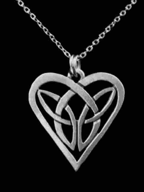 Celtic Jewelry Celtic Heart Knot Pendant  SCA 1004 by treasurecast, $8.98