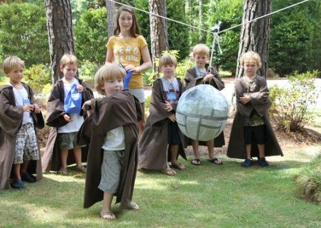 Death Star Pinata - Lego Star Wars Party activity...filled with lego as an alternative to candy