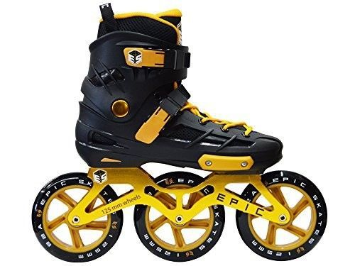 skates engage 125mm 3-wheel inline speed skates, black/gold, adult 8 | Sporting Goods, Outdoor Sports, Inline & Roller Skating | eBay!